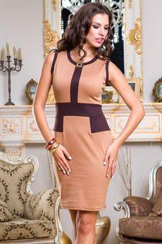 Платье без рукавов в деловом стиле Angela Ricci