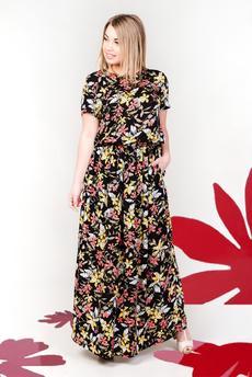 Новинка: платье из штапеля с цветочным принтом Шарлиз