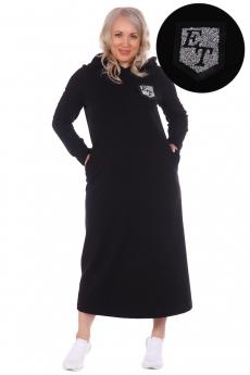 Черное платье с капюшоном ElenaTex